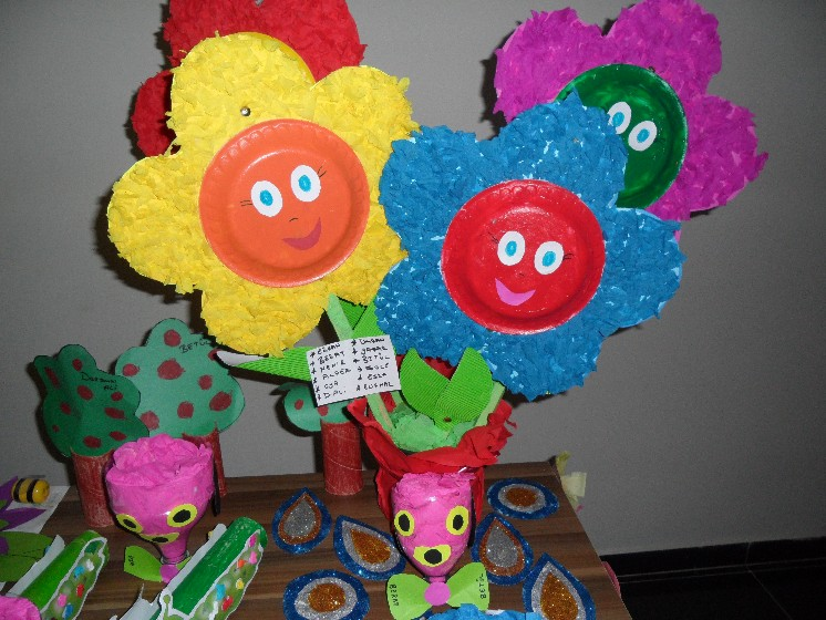 paper plate flower crafts