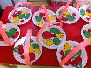paper plate fruit basket