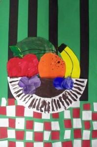 paper plate fruit basket craft