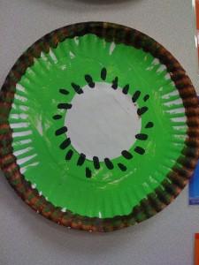 paper plate kiwi craft