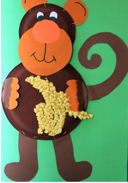 paper plate monkey craft