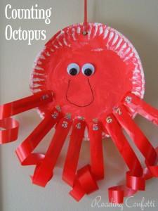 paper plate octopus craft
