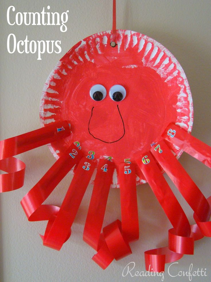 octopus paper plate craft crafts actvities and worksheets for preschool toddler and 5042
