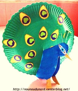 paper plate peacock craft