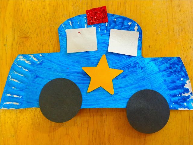 paper plate police car craft
