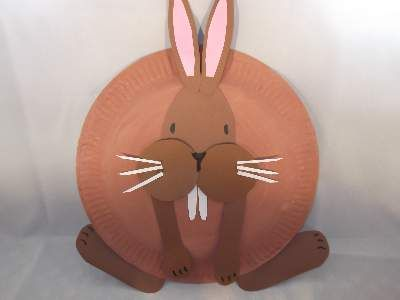 paper plate rabbit craft