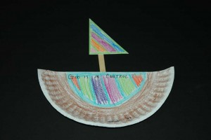 paper plate ship craft