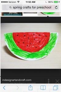 paper plate waterlemon craft