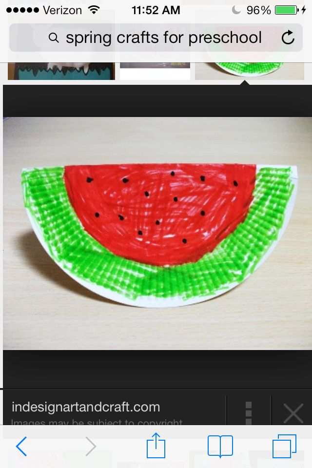 paper plate waterlemon craft