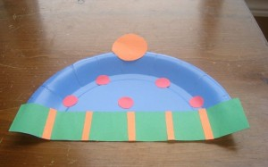 paper plate winter hat craft