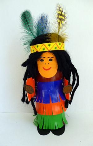 paper roll indian craft
