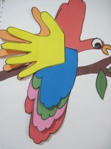 parrot craft for kids