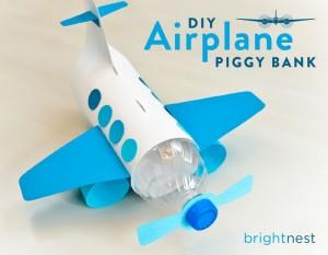 plastic bottle air plane craft