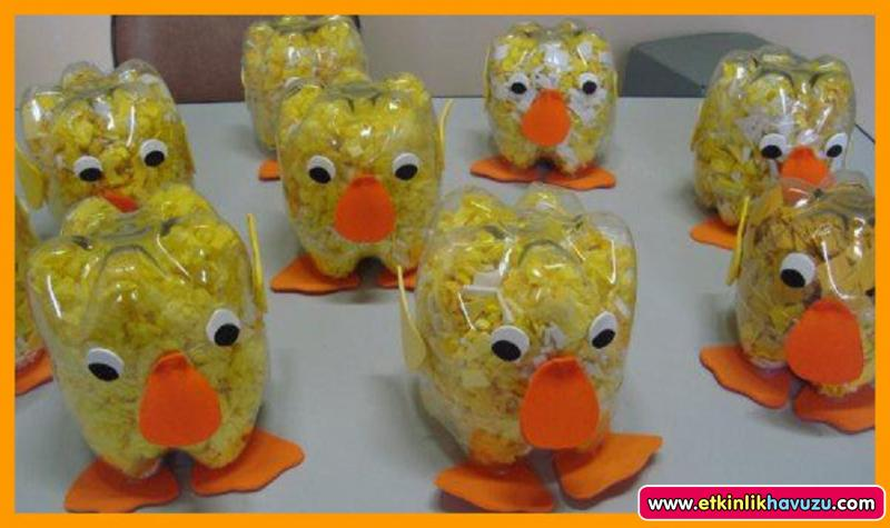 plastic bottle chick craft