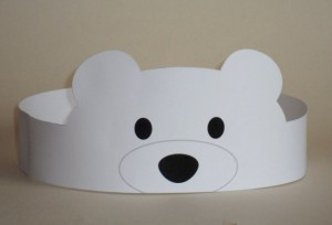 polar bear paper crown craft