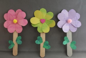 popsicle stick flower craft
