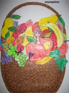 preschool furit basket craft