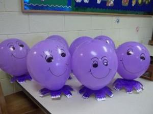 purple balloon octopus