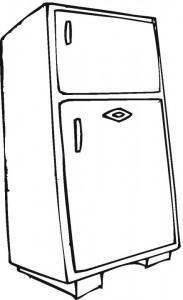 refrigerator coloring page