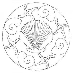 sea animal mandala coloring page