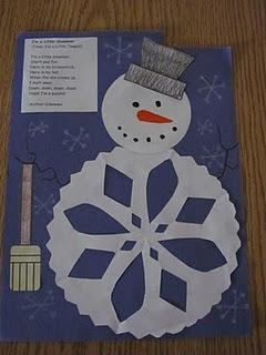 snowflake snowman craft
