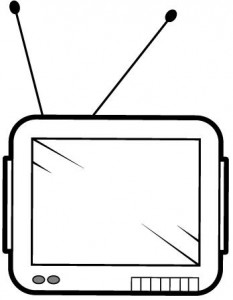 television coloring page
