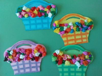 tissue paper flowr basket