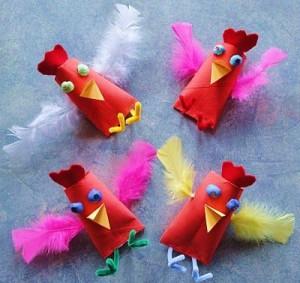 toilet paper roll chicken craft