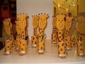 toilet paper roll giraffe craft