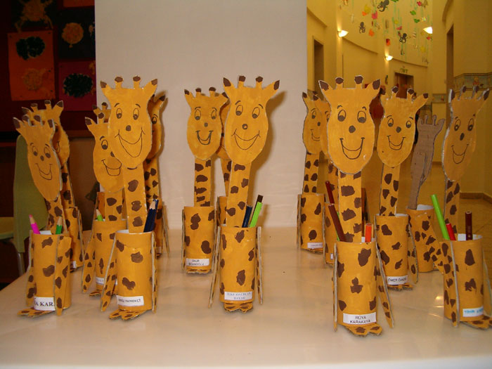 toilet paper roll giraffe craft