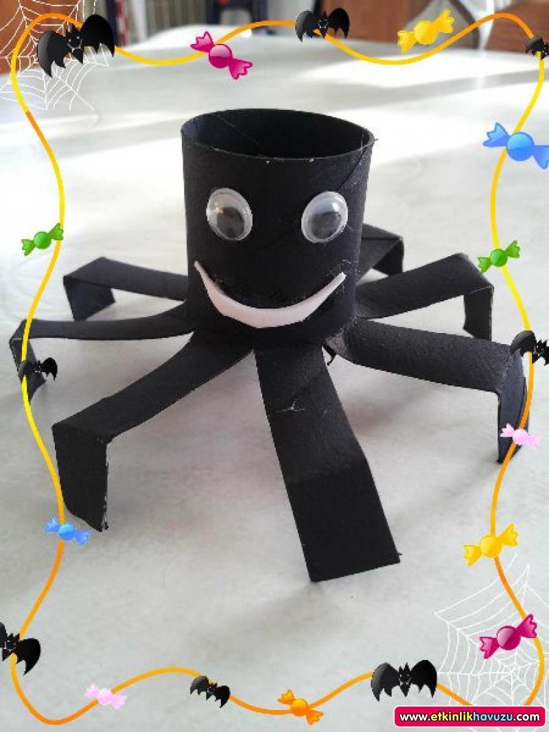 toilet paper roll spider craft