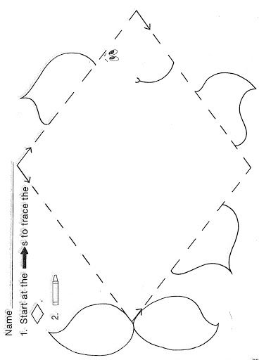 Shape Trace worksheet for preschool kids | Crafts and Worksheets ...