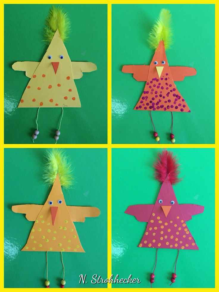 triangle shaped chicken craft