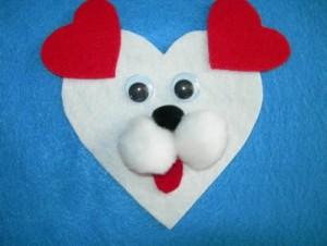 valentine puppy craft