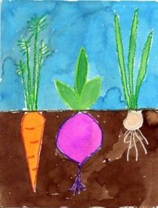 vegetables craft