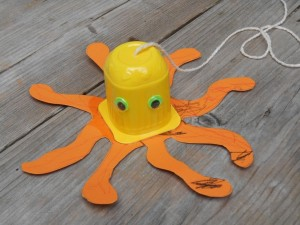 yogurt cap octopus craft