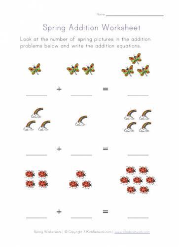 3_spring_addition_worksheets_kindergarten