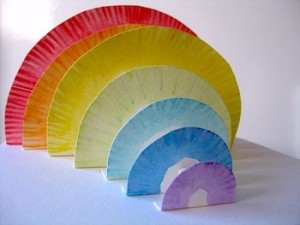 3d Paper plate rainbow
