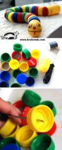 Bottle Cap Snake craft