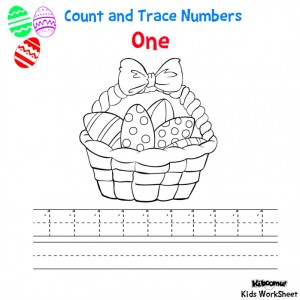 Count-and-Trace-Number-1-Easter-worksheet-for-Kids