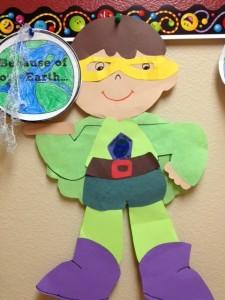 Earth Day Superhero craft