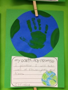 Earth Day activity - bulletin board