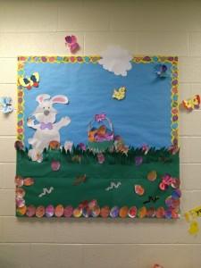 Easter bulletin board 4