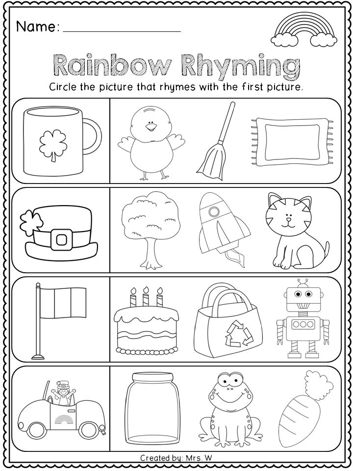 FREE St. Patrick's Day Literacy and Math Printables
