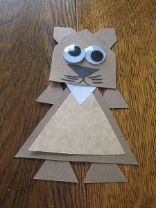 Groundhog Shape Craft