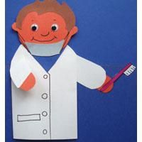 Healthy Teeth dentist puppet and crafts