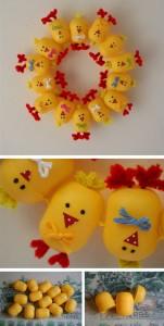 Kinder Surprise Easter Wreath