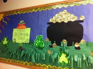 March bulletin board idea for kids