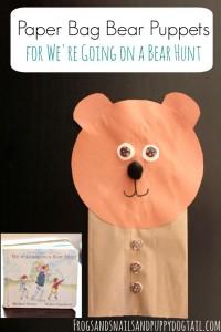 Paper Bag Bear Puppets