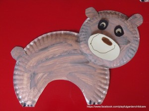 Paper Plate Brown Bears